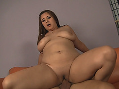 Busty woman with chubby forms, paid for a rough fuck