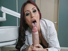 Miss Monique Alexander sucks her patient Danny Ds cock