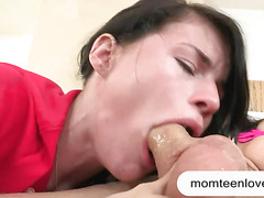 Heather Night and Eva Karera nasty threesome session