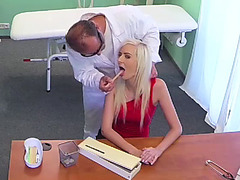 Blonde babe fucked in hospital