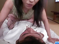 Kaori Akitsu sucks cock and fucks until exhaustion