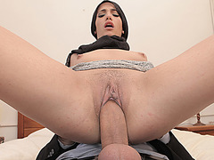 Precious hot chick getting banged by large massive dick