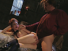 Stunning Cinderella-like MILF fucked in ass