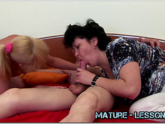 Mature Eden Shows Babe How To Suck