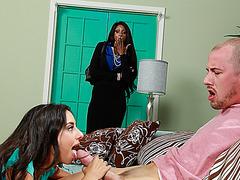 Horny babe Trinity learns new tricks from stepmom Diamond