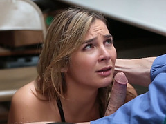 Sexy thief Blair Williams fucks a detectives cock