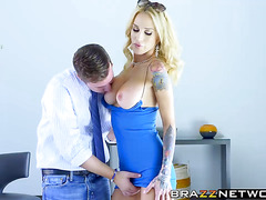 MILF with big boobs Sarah Jessie railed hard in the pussy