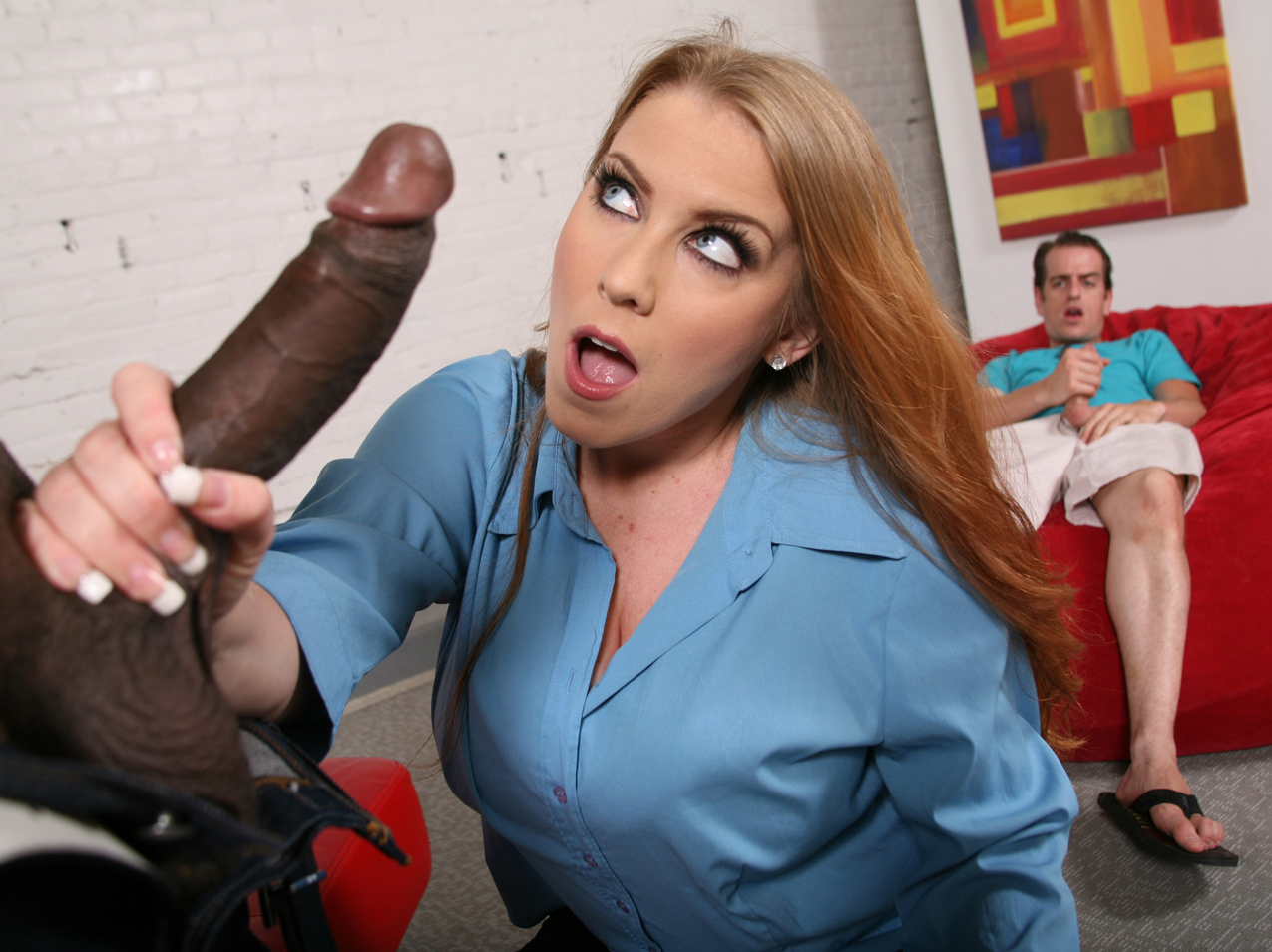 Desiree de luca takes black cock in front of son