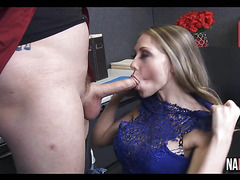 Petite Blonde Fucked In Work Place Shawna Lenee