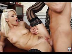 Sexy Nice Tits Blonde Office Fuck Anikka Albrite
