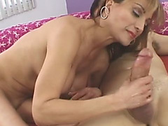 Sofia Soleil granny fucking young cock blowjob