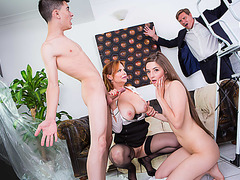 Horny babe Leyla learns new tricks from stepmom Tarra