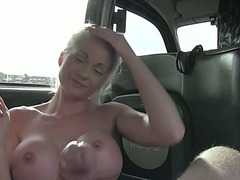 Sexy Lady in a cab gets fucked hard by a driver