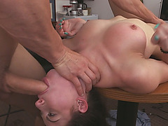 Kymberlee Anne is a sexy brunette babe who loves to get face fucked every day
