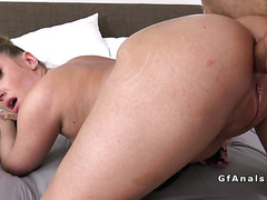 Big booty amateur pounded up her ass in bedroom