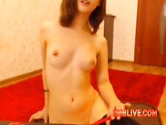 Keep Working The OMBLIVE Toy On Fine College Babe Hot Clit