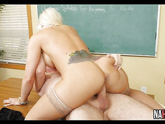 Big Tits Blonde Fucked By Student Holly Heart