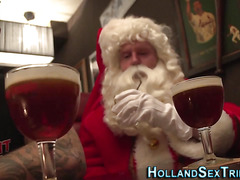 Dutch hooker fucks santa