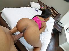Step bro girthy cock fucks Jenna Foxxs pussy from behind