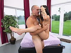 Lily Jordan petite brunette fucking long dong