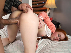 Tiny student Dolly Little flirts with her tutor