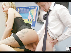 Hot Big Tit Blonde MILF Fucked In Class  Stacey Saran