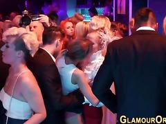 Bride sucks dick at party