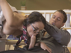 A hot fuck form behind with Dillion Harpers wet pussy