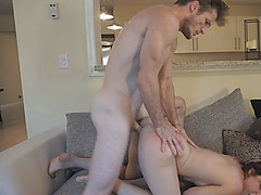 Cute Kylie Quinn dominating sex with abusive neighbor
