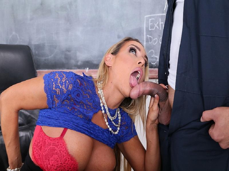 Hot teacher sucking dick