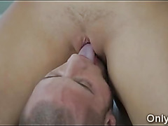 Perfect body girlfriend struggles with big hard dick