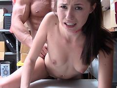 Petite babe Carolina Sweets takes a giant dick