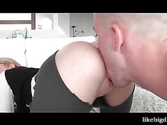 School slut hard banged from her back