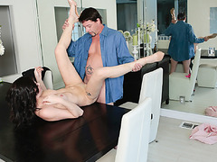 Jessica was old enough to take her step perkys big cock