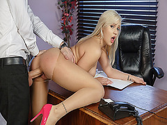Danny D pounding Kylie Pages slacking pussy doggystyle