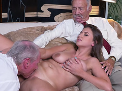 Busty chick Ivy Rose shows her body and got fucked