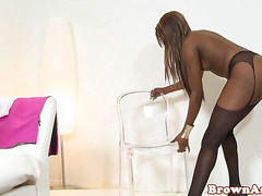 Black booty beauty facialized after fucking