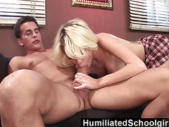 HumiliatedSchoolgirls  Online chat brings her a steaming fuck
