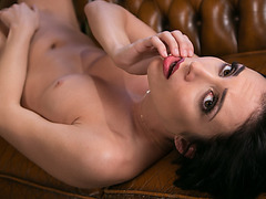 Shyla pierces Aiden's pussy opening with her expert tongue