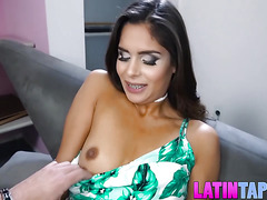 Pretty latin chick Katya Rodriguez cuckolds a poor guy