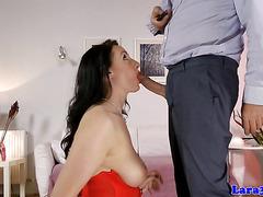 Glam mature british getting throatfucked