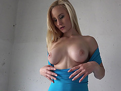 Blonde Helena Valentine gets her hands on dudes cock and cash