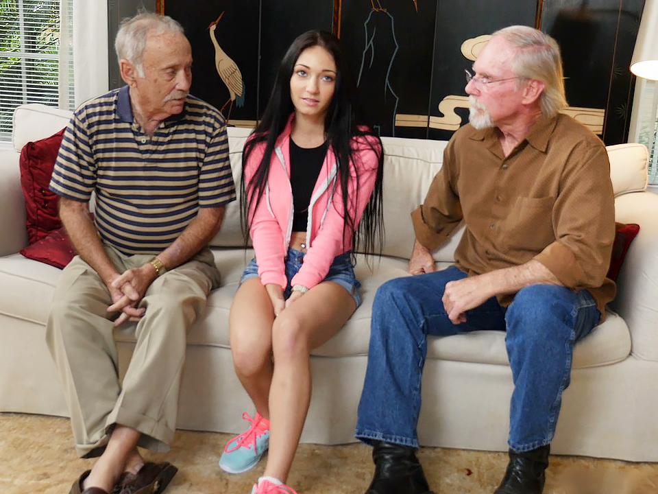 порнуху дедуля с молодой шлюшкой