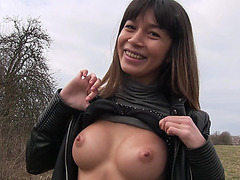 Busty MILF Mona Kim trades expert blowjob for huge cash