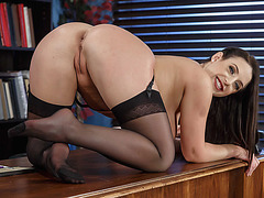 Busty MILF Angela White deepthroats a rock hard cock