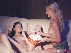 Cute Ariana seduces her girlfriend Alex and bangs her wildly