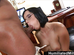 HumiliatedMilfs  Shes so dedicated that she lets her boss fuck her ass