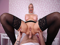 Rebecca Moores fucked by a big cock on top