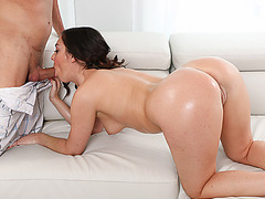 Sweet Brittany Shae having a huge dick inside her pussy
