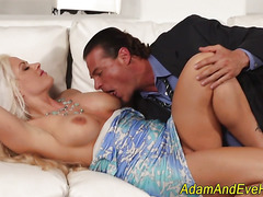 Classy blonde gets fucked